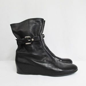 Stuart Weitzman  black hidden wedge shoes
